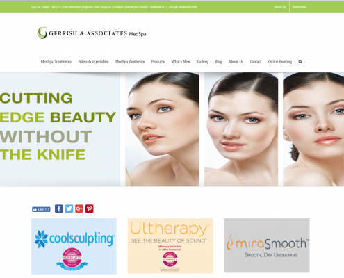 Gerrish and Associates website designed by BeauteeSmarts