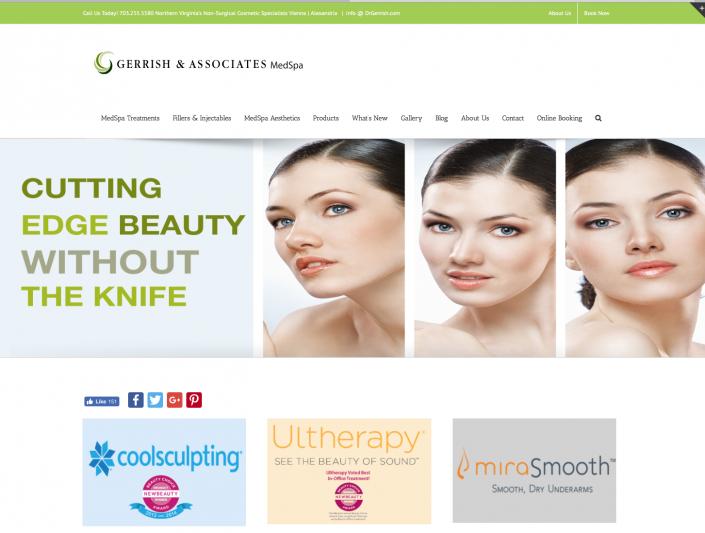 Gerrish and Associates website designed by BeauteeSmarts